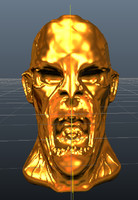 golden zombie obj