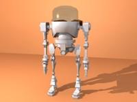 robot bot 3d obj