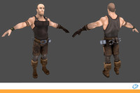 3d medieval male character