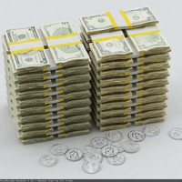 3ds max money dollars