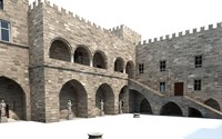 3ds max palace knights rhodes castle