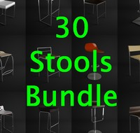30 Stools and Chair Bundle / Collection