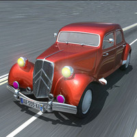 3d citroen traction model