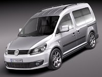 3d volkswagen caddy van minivan model