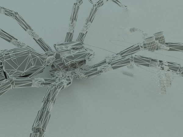 mechanical spider 3ds - Mechanical Spider... by biorkes
