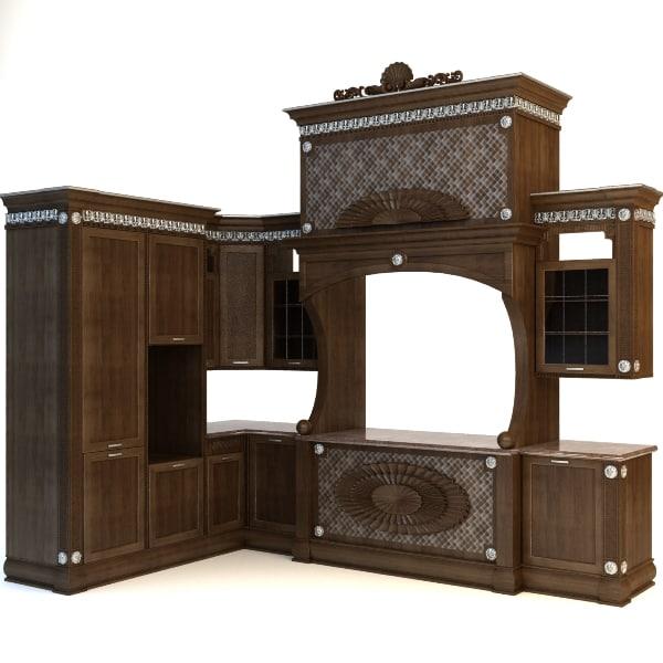 3ds Max Kitchen Cabinet