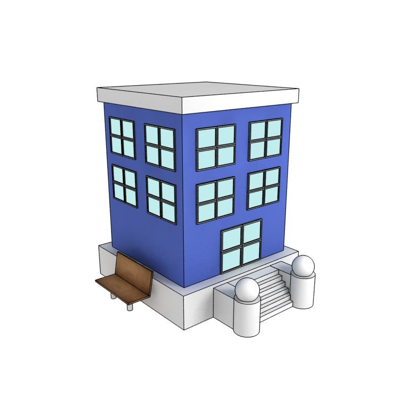 3d cartoon building model 3d house builder online