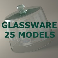 glassware glass 25 modelled lwo