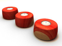 Wooden T-Light Candle holder