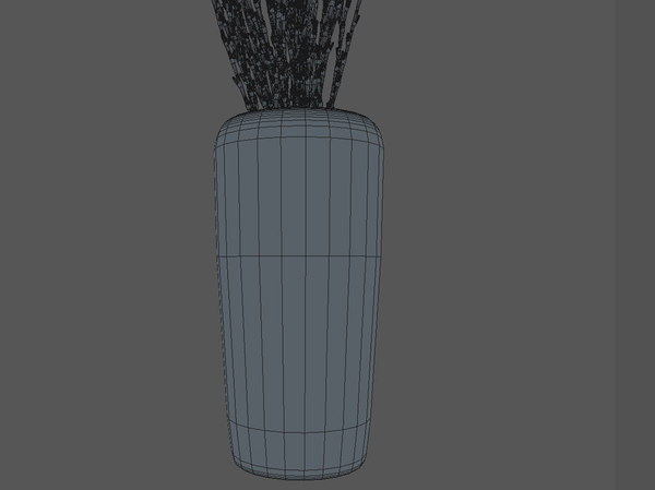 vase branches 3d model - Vase & Branches... by C4dTricks