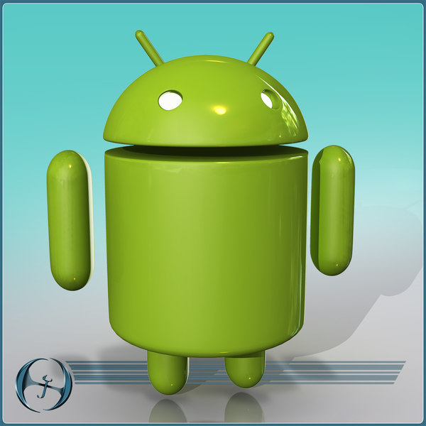 3d model android character cartoon - Android Mascot (ANIMATED)... by Jeffrey Oswald
