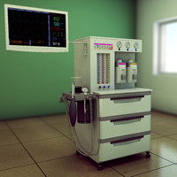 3d model anesthesia machine