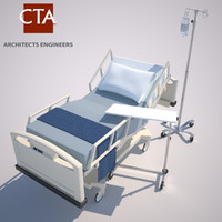 3ds max hospital bed table iv