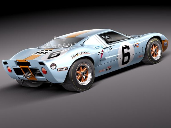 gt40 gt 40 1963 3ds - Ford GT40 1963-1969... by squir