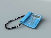 3ds max desk telephone