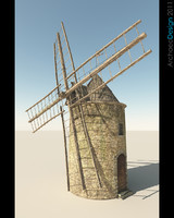 3d windmill wind model