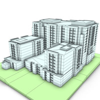 city building office 3d model
