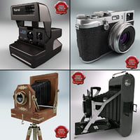 3d antique cameras v2 model