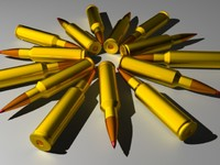 3d rifle cartridge bullet casing model