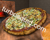 pizza wood oven 3d model
