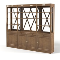 lodge library cabinet 3ds