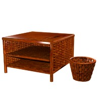 3d wicker table basket model