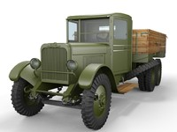 3d zis-6 truck model