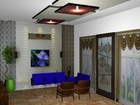 3d model drawing room-1a