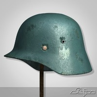 world war 2 german helmet 3d model