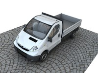 3d opel vivaro pickup model
