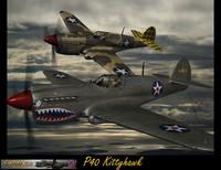 3d model p40 kittyhawk