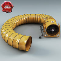 3ds max portable ventilator flexible duct