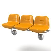 stadium seat arena 3d model