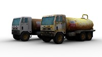 russian water trucks 3d model
