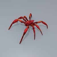 3d model red spider