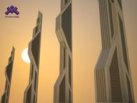 Futuristic Sci-Fi Skyscraper