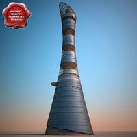 aspire tower 3d model