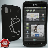 zte skate phone 3d model
