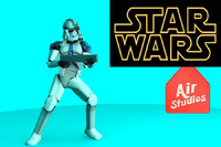 clone trooper star wars 3d obj