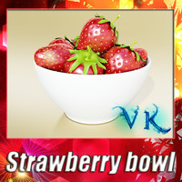 3d strawberry bowl resolution
