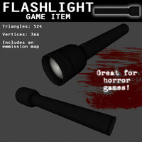 flashlight games light 3d model