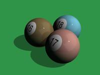 obj billiards balls