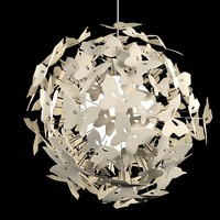 Chandelier Butterfly Ball by Diffuse Studio kid fun lamp children sphere