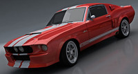 3d max shelby gt500 classic recreation