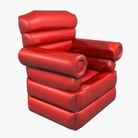 inflatable big red chair 3ds