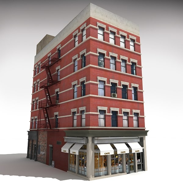 nyc building 3 3d c4d On model house nyc