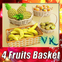 4 Fruit Basket + High Resolution textures.