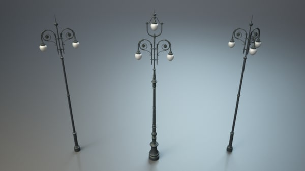 street lights 3d model - Street lights HQ... by dimosbarbos