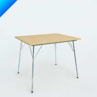 3ds max eames folding table
