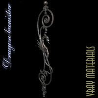 3d stair baluster wrought model